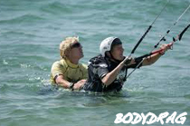 Instructor teaching to body drag-