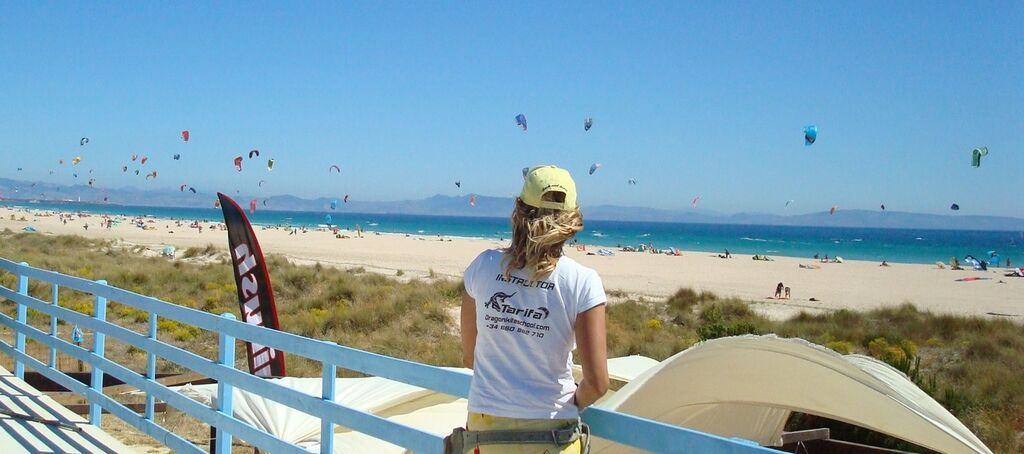 os lances Official kite zone in Tarifa