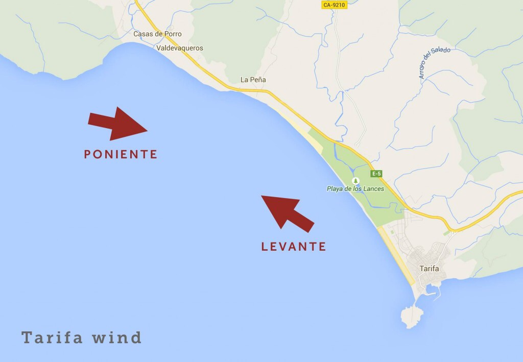 Main winds in Tarifa are Poninente and Levante.